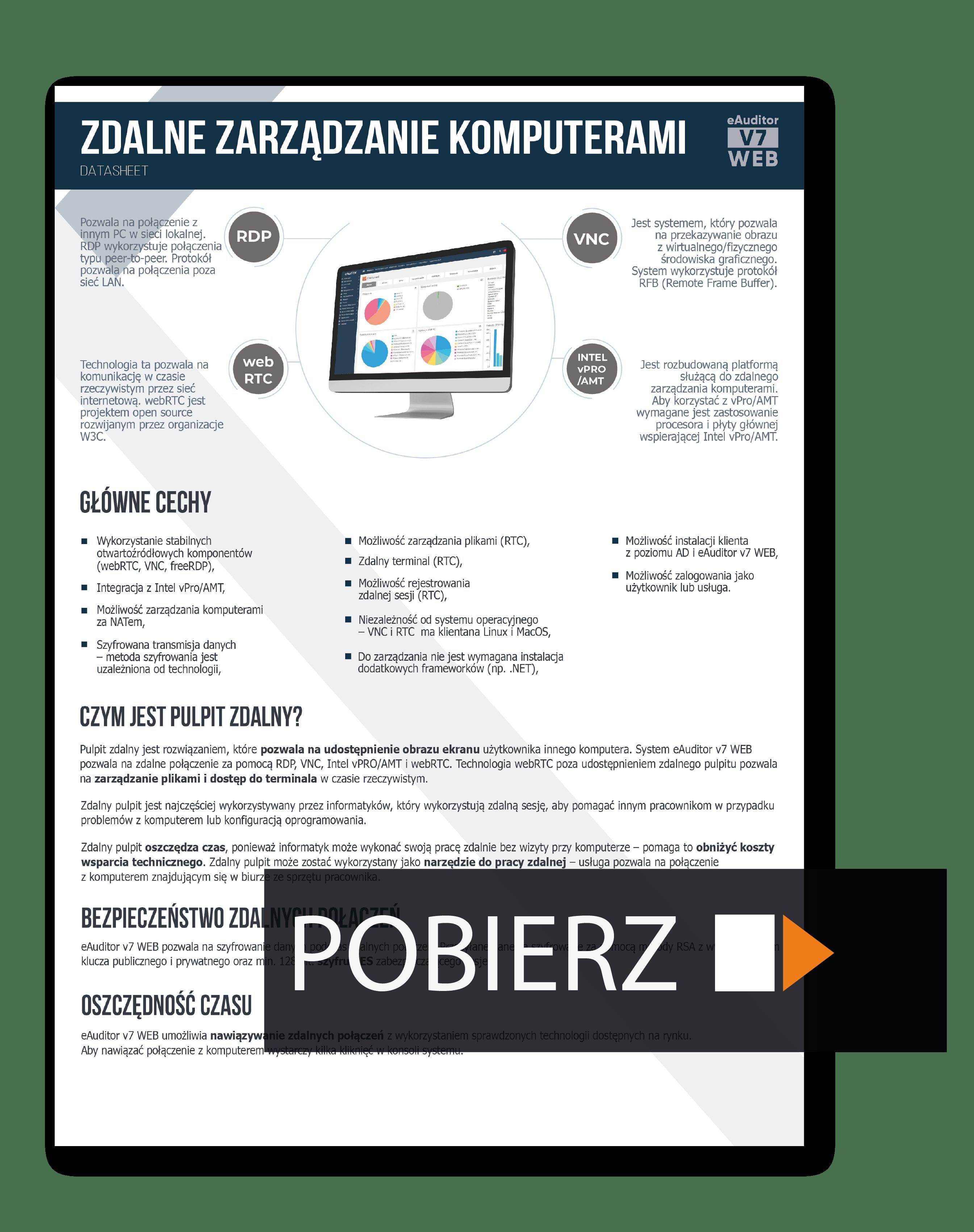 Zdalne zarządzanie komputerami - datasheet